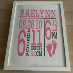 BABY ANNOUNCEMENT KEEPSAKE PICTURE FRAME
